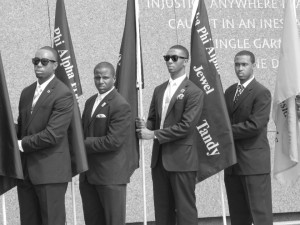 At the Alpha Phi Alpha Fraternity, Inc. dedication.
